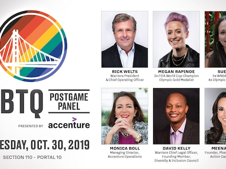 Megan Rapinoe, Sue Bird and Rick Welts to Highlight Warriors LGBTQ Night Postgame Panel, Presented By Accenture