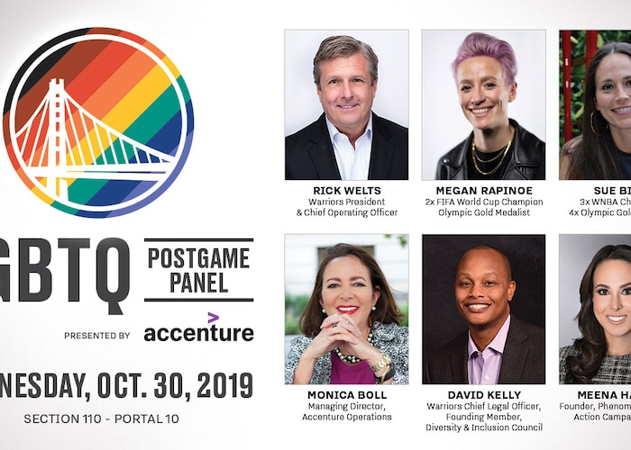 Megan Rapinoe, Sue Bird and Rick Welts to Highlight Warriors LGBTQ Night Postgame Panel, Presented By Accenture, On October 30
