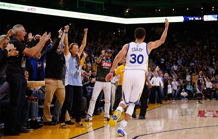 a0a86a7e89bd Warriors guard Stephen Curry is the unanimous winner of the Maurice  Podoloff Trophy as the 2015