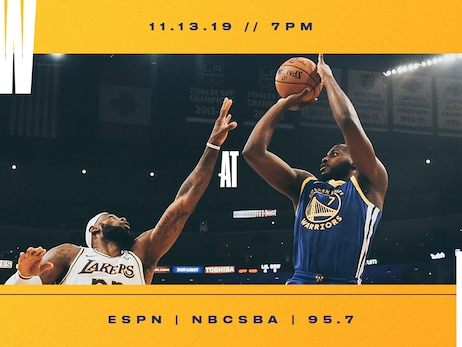 Game Preview: Warriors vs. Lakers - 11/13/19