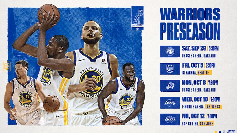 Back-to-Back NBA Champion Warriors Announce 2018 Preseason Schedule
