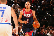 Stephen Curry and Klay Thompson helped lead USA to a 112-86 exhibition win over Puerto Rico on Friday.