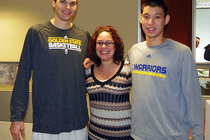 Warriors Players Visit Their Corporate Partners