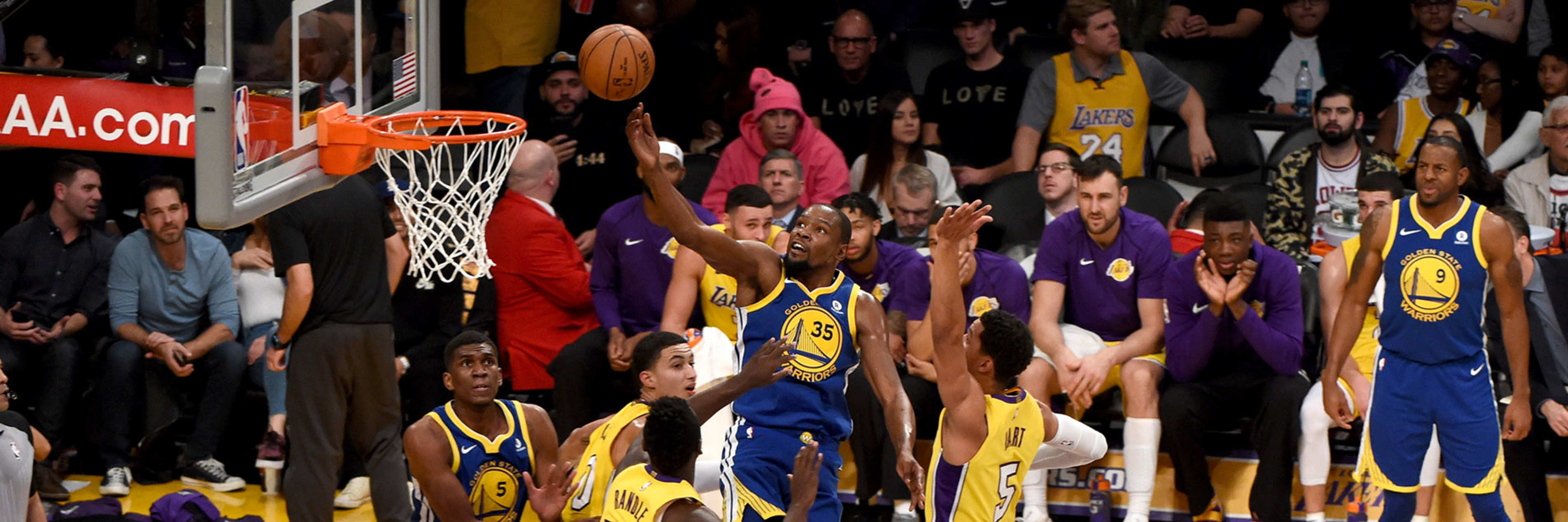 6c493a2d09c8 Warriors Outlast Lakers in Overtime
