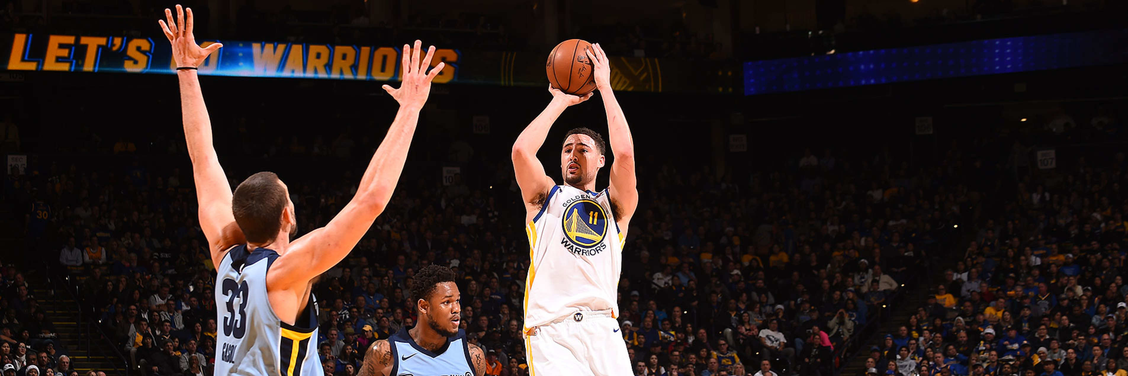 Klay Thompson Scores 29 in Win Over Grizzlies