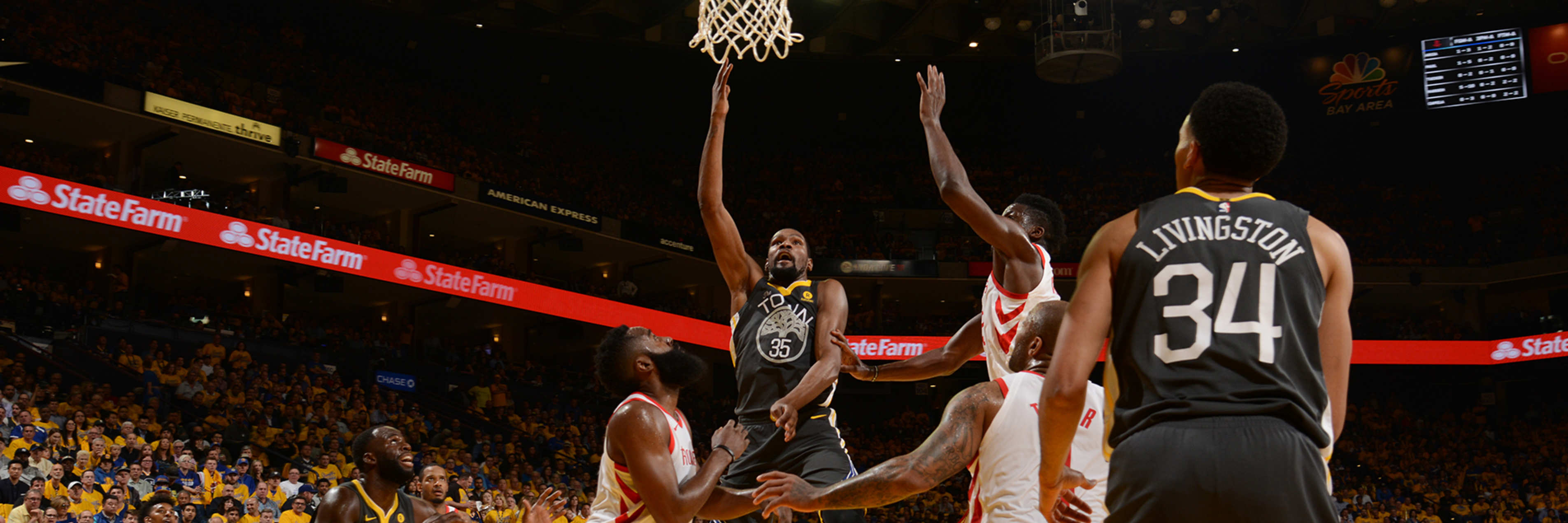 b88059500d5 Warriors Fall Short Against Rockets in Game 4