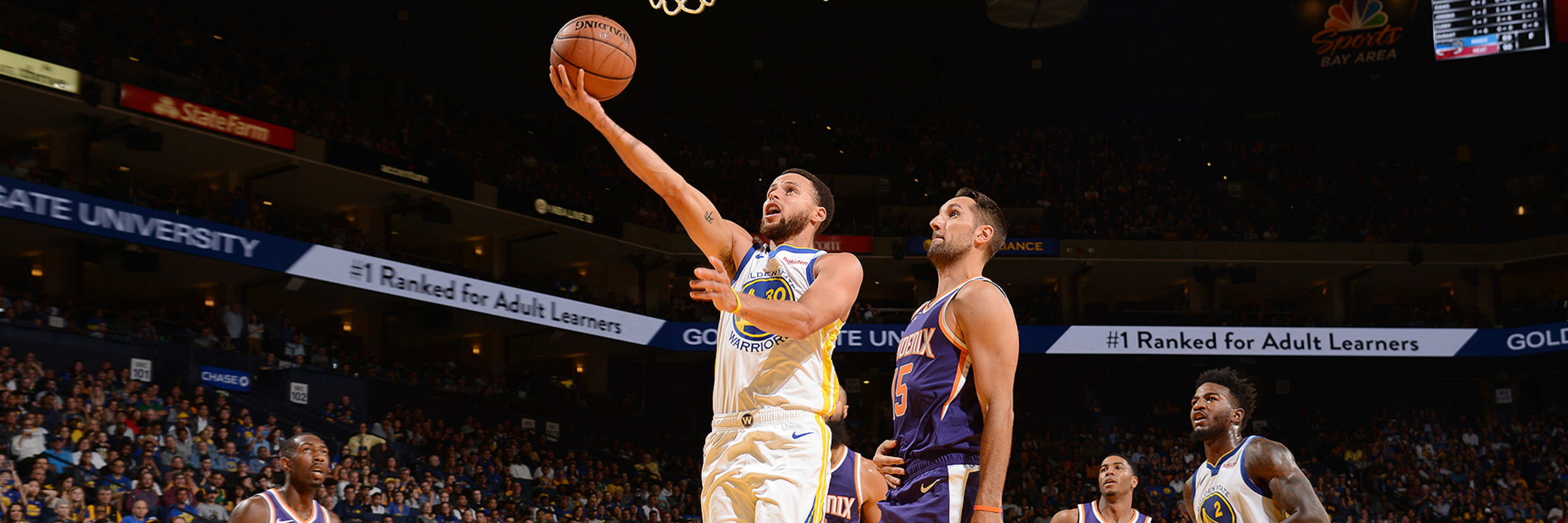 Curry Scores 23 in Preseason Loss to Suns