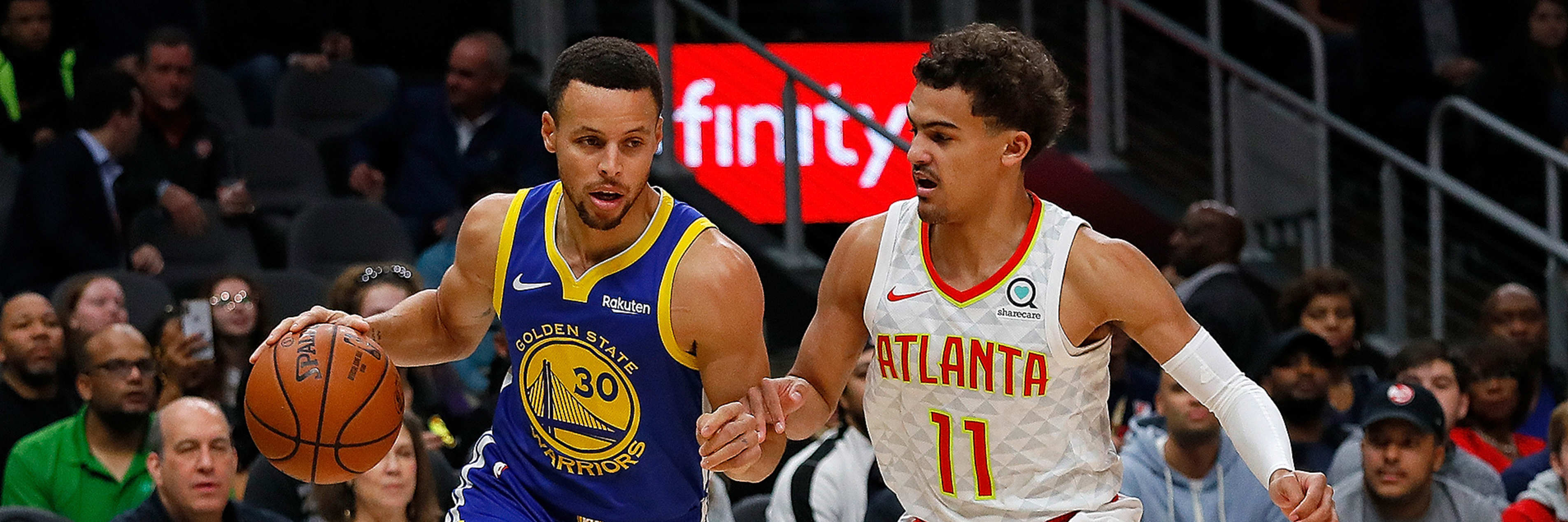 Curry and KD Lead Dubs Past Hawks