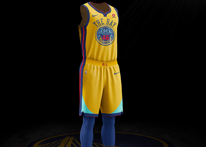 low priced 1e863 4b6c1 Warriors to Wear Chinese Heritage Uniforms for Select Games ...