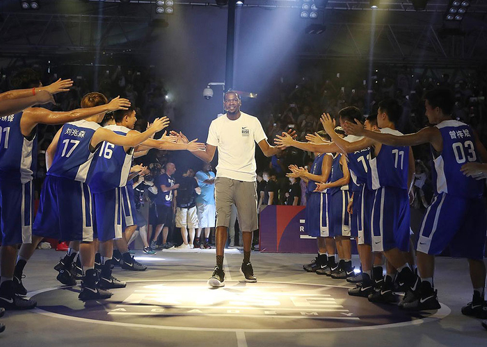 f606e1ed5d6 Shortly after signing his contract with the Warriors, Kevin Durant embarked  on a week-