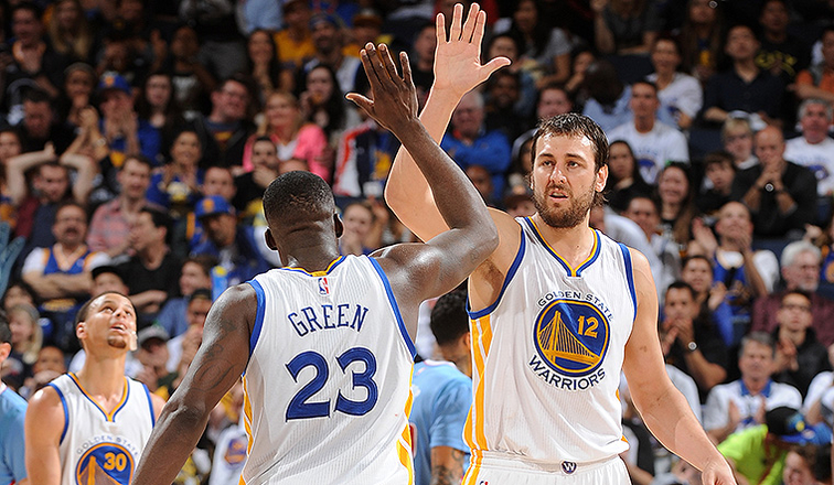 Draymond Green and Andrew Bogut Named to NBA All-Defensive Teams