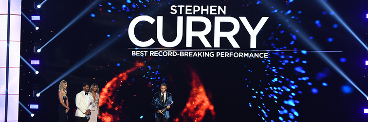Curry Wins ESPY for Record-Breaking Performance