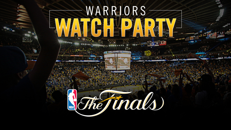 Warriors to Host Official Watch Parties at Oracle Arena for Games 3 and 4 of 2016 NBA Finals