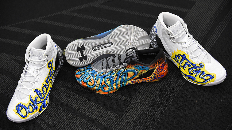 Season Ticket Loan >> Oakland Museum of California Debuts Three Pairs of Sneakers Worn by Stephen Curry   Golden State ...