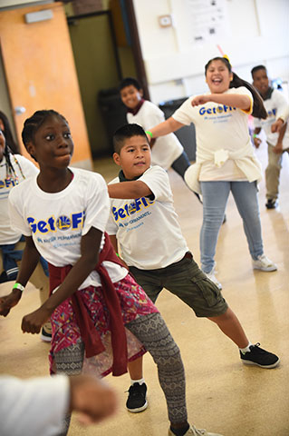 Photos: Get Fit Time-Out with JaVale McGee, presented by Kaiser Permanente