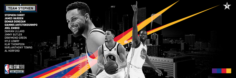 Curry Drafts Thompson and Green for NBA All-Star Game