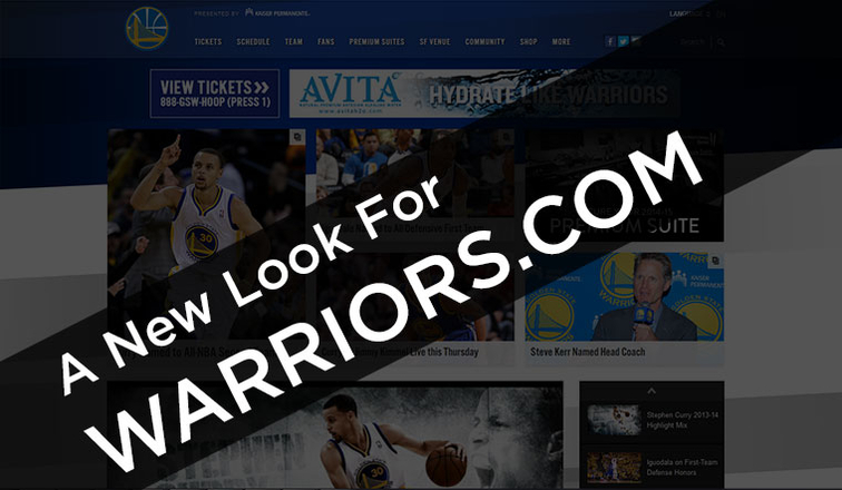 The Warriors have a brand new responsive website