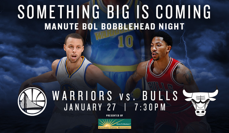 6a2575557 Warriors to Host Manute Bol Bobblehead Night on Tuesday