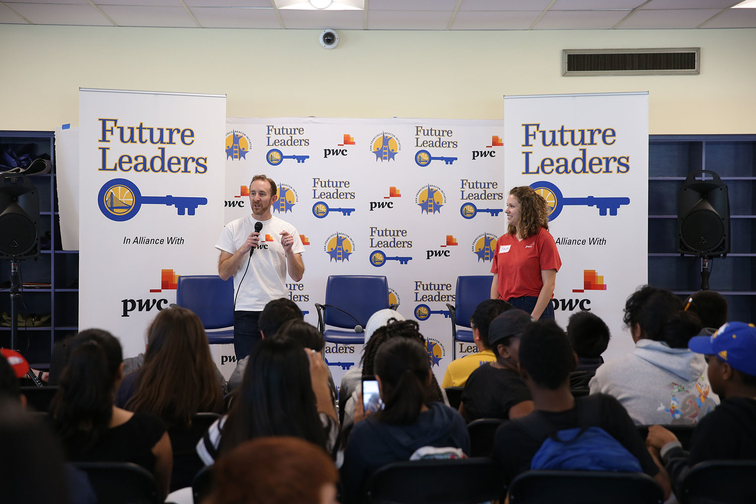Photos: Warriors Future Leaders with James Michael McAdoo and Coach Collins