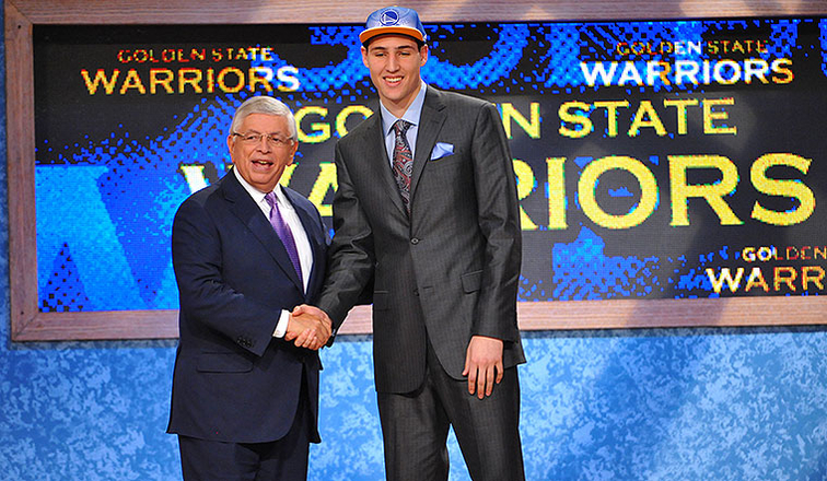 Klay Thompson was selected by the Warriors with the 11th pick of the NBA Draft