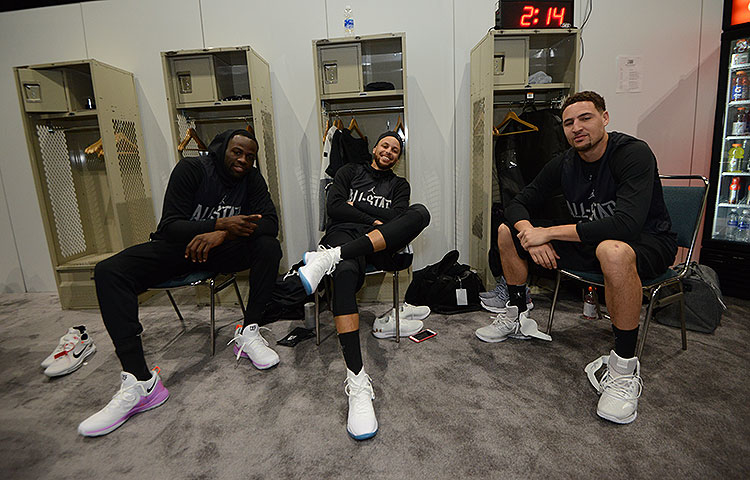 Dubs at NBA All-Star Practice