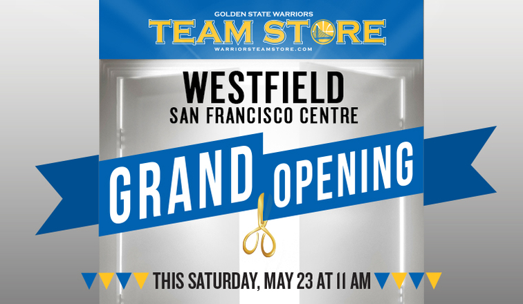 72b4ecd8 Warriors to Open Warriors Team Store at Westfield San Francisco Centre