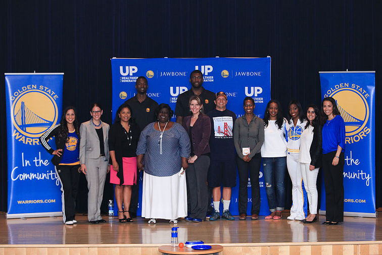 Warriors UP for a Healthier Generation, Powered by Jawbone