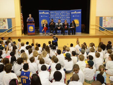 Warriors Forward Jason Thompson and Assistant Coach Chris DeMarco Host Scholars of Tomorrow PTA Night, Presented by ScholarShare