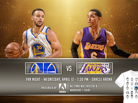 Warriors to Host Fan Night April 12 Against Lakers
