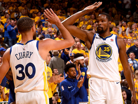 Kevin Durant and Stephen Curry Named to 2017-18 All-NBA Team