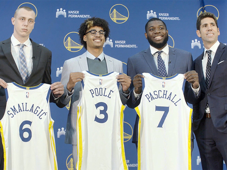 Warriors Rookies Meet the Media