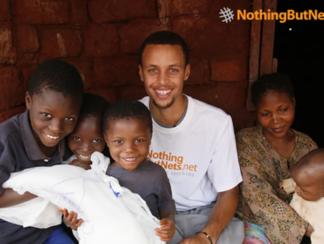 "Warriors Guard Stephen Curry Continues ""Three for Three Challenge"" Benefiting Nothing But Nets for 2015-16 Season"