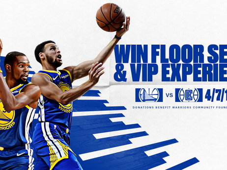 Fans Can Enter to Win Two Courtside Tickets to the Team's Regular Season Finale, presented by Adobe, at Oracle Arena