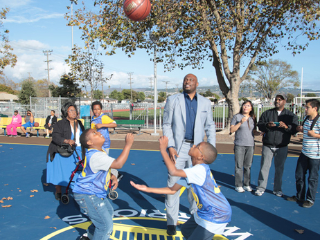 Warriors Great Mitch Richmond Honored at Basketball Court Unveiling Ceremony in Richmond, CA
