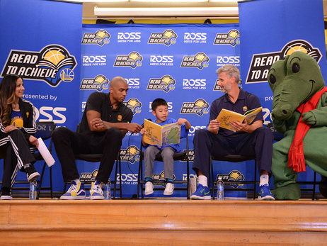 Warriors Join Students for Read To Achieve Back-To-School Rally