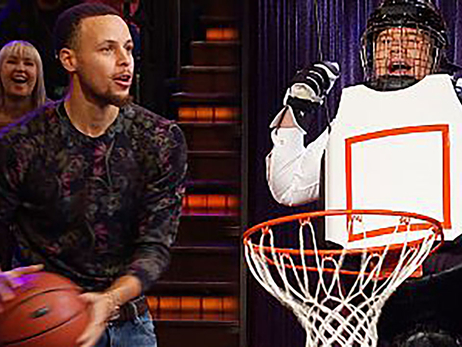 Curry Reunites with James Corden on Late Late Show
