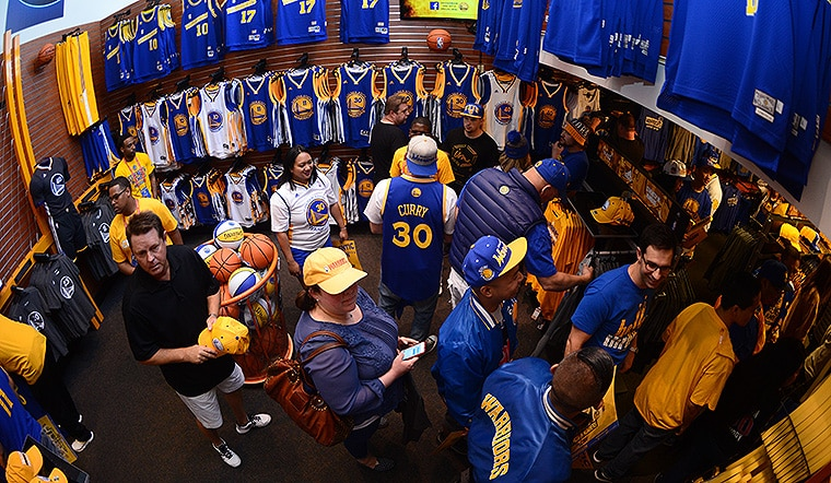 competitive price c9c9d 3471a Warriors Team Store Open Daily Through 2015 NBA Finals ...