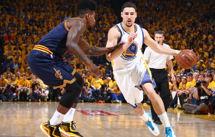 Klay Thompson led the team in scoring with 34 points, five rebounds, two  assists