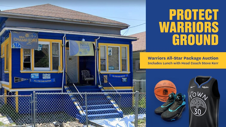 Dubs Launch Auction to Help West Oakland Keep his 'Warriors House'