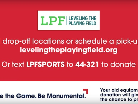 Monumental Sports & Entertainment partners in April with Leveling the Playing Field to encourage sustainability practices through sports equipment donations