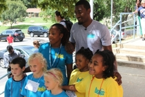 John Wall at Hunter Elementary School - 1