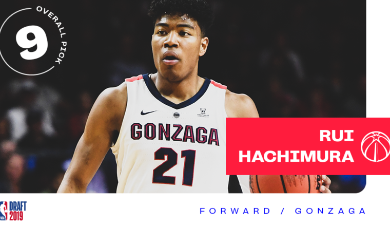Wizards select Rui Hachimura