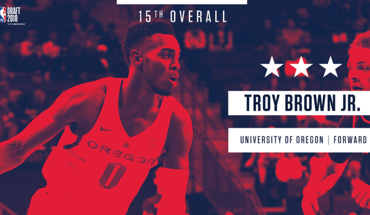 Wizards Select Troy Brown Jr.