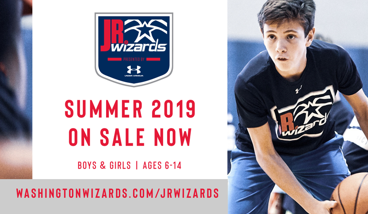 2019 Jr. Wizards Summer Camp – On Sale Now