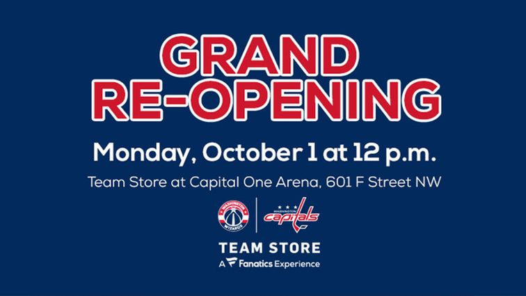 931e73308781 Grand re-opening of Capital One Arena Team Store in D.C. ...