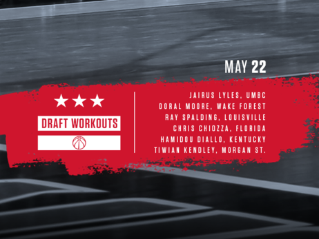 Wizards Draft Workouts - 5/22/18