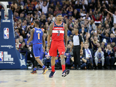 Wizards win thriller in London, 101-100