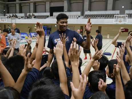 Rui Hachimura at Basketball Without Borders Camp in Tokyo - 8/15/19