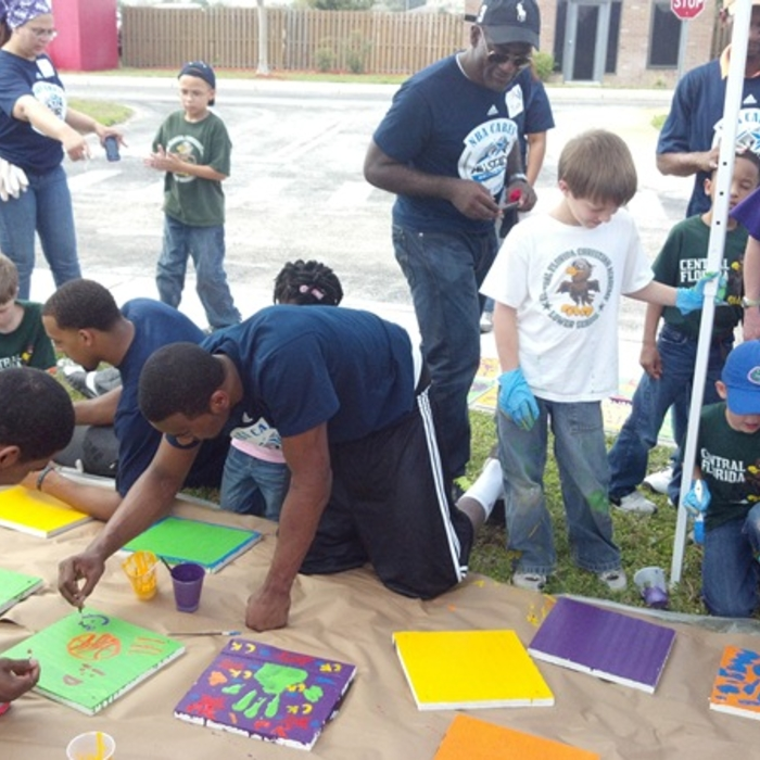 Wall at NBA Cares Day of Service
