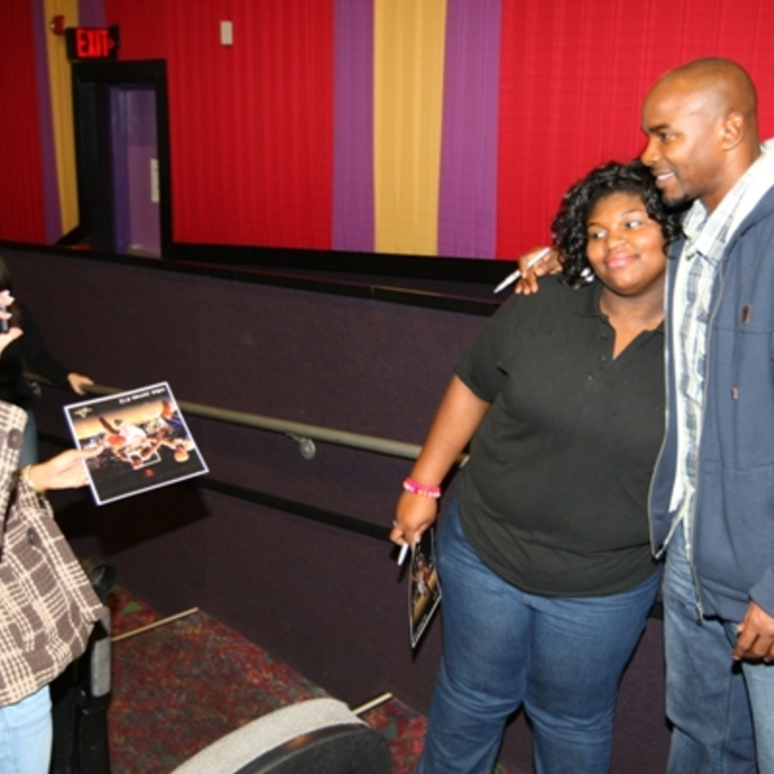 Mike James Hosts Movie Night for Military Families